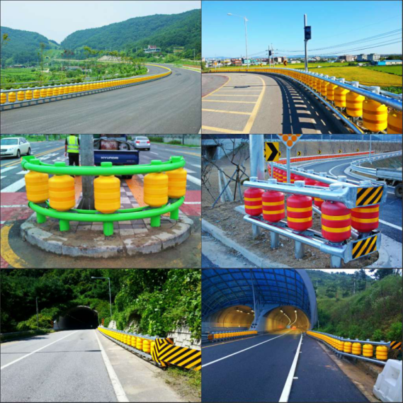 Heavy Duty Highway Roller Vehicle Safety Barrier Anti - Chemical Corrosion